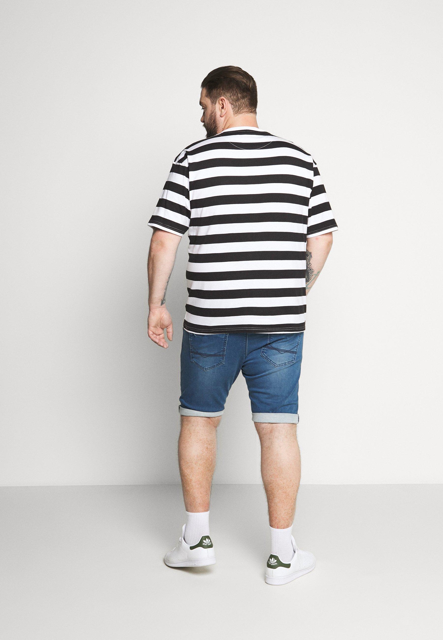 Common Kollectiv PLUS WILSON STRIPE - Print T-shirt - white WCReO