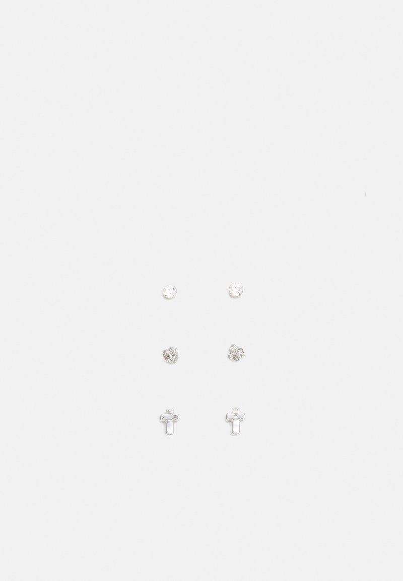 River Island - 3 PACK - Earrings - silver-coloured