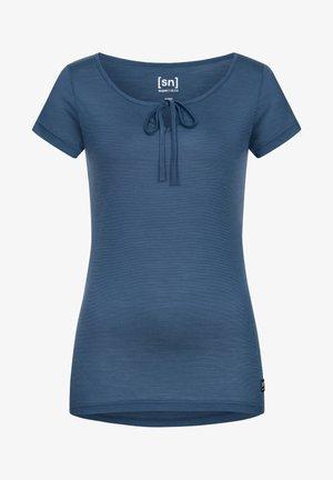 MERINO T-SHIRT W RELAX TEE - Print T-shirt - denim
