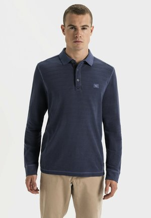 LONG SLEEVED - Polo shirt - navy