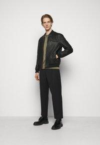 HUGO - LIVIUS - Leather jacket - black - 1