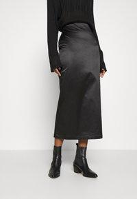 Weekday - SIGNE SKIRT - Pencil skirt - black - 0