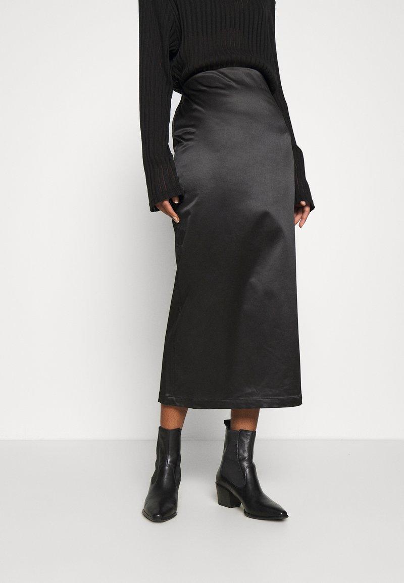 Weekday - SIGNE SKIRT - Pencil skirt - black