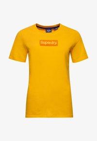 Superdry - CORE LOGO - Print T-shirt - springs yellow - 3