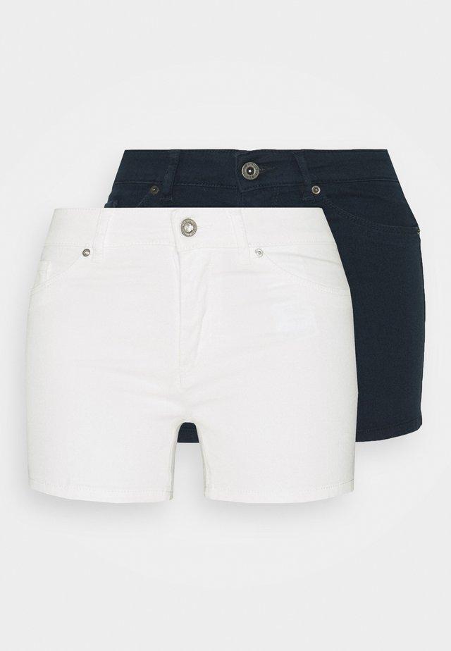 VMHOTSEVEN 2 PACK - Shorts - navy blazer/bright white