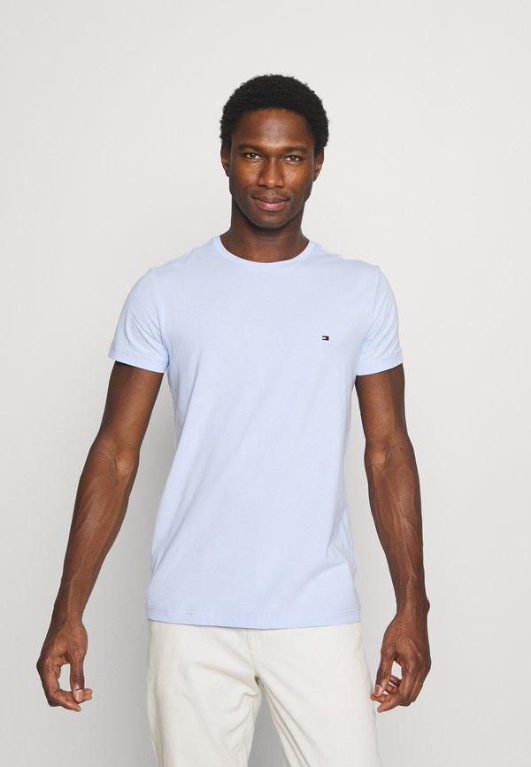Tommy Hilfiger STRETCH TEE - T-shirt basic - sweet blue/jasnoniebieski Odzież Męska FWIG