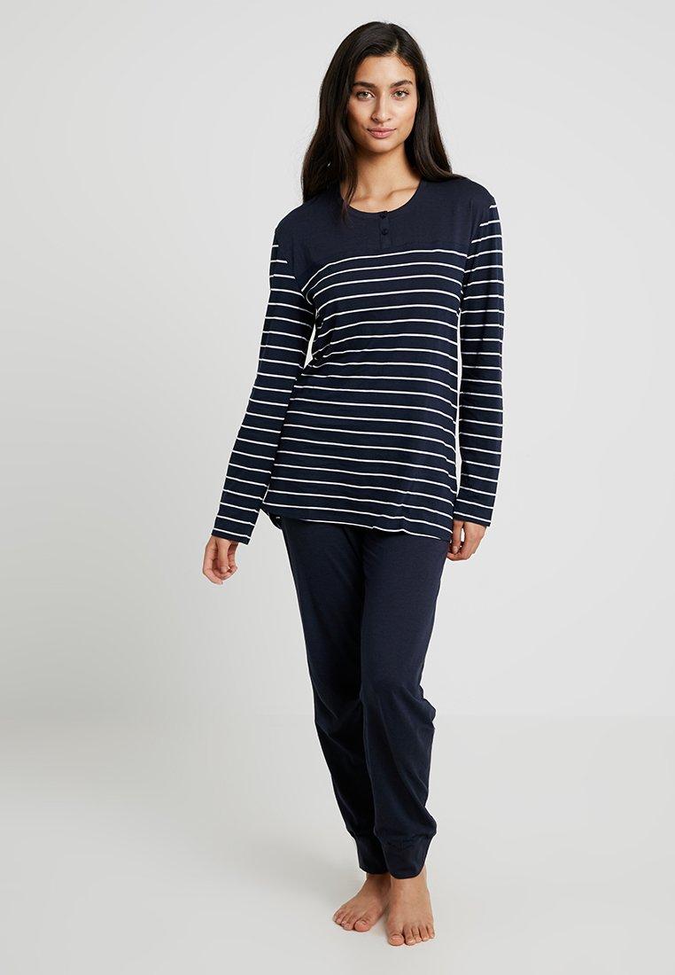 Schiesser - BASIC SET - Pyjama set - nachtblau