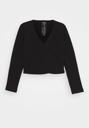 BALLET WRAP CAMBRE - Long sleeved top - black
