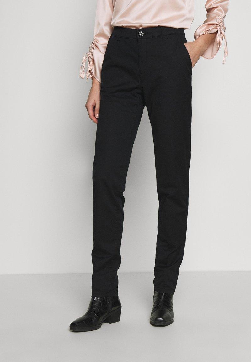 Esprit - Chino kalhoty - black