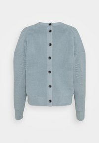 Proenza Schouler White Label - CARDIGAN BUTTON BACK - Cardigan - steel blue - 7