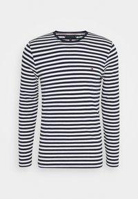 STRETCH SLIM FIT LONG SLEEVE TEE - Long sleeved top - blue