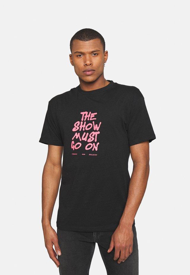 SHOW UNISEX - T-shirt imprimé - black