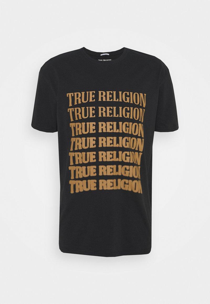True Religion - DESCENDING ARCH CREW TEE - Printtipaita - black