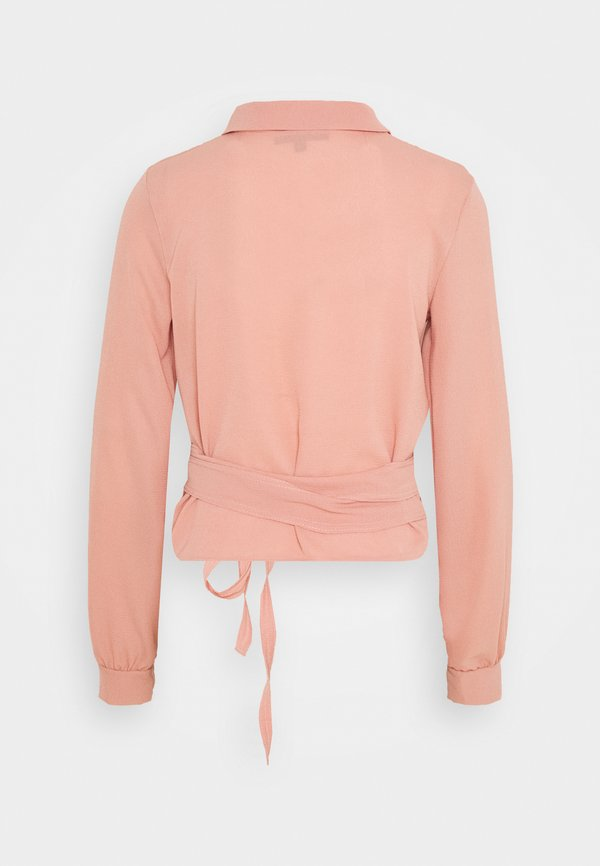 Missguided Tall TIE SIDE BLOUSE - Bluzka - pink/rÓżowy XVRT