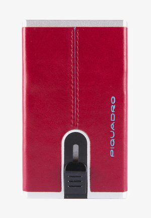 SQUARE - Business card holder - red