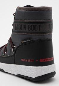 Moon Boot - BOY MID  - Botas para la nieve - black /castlerock - 5