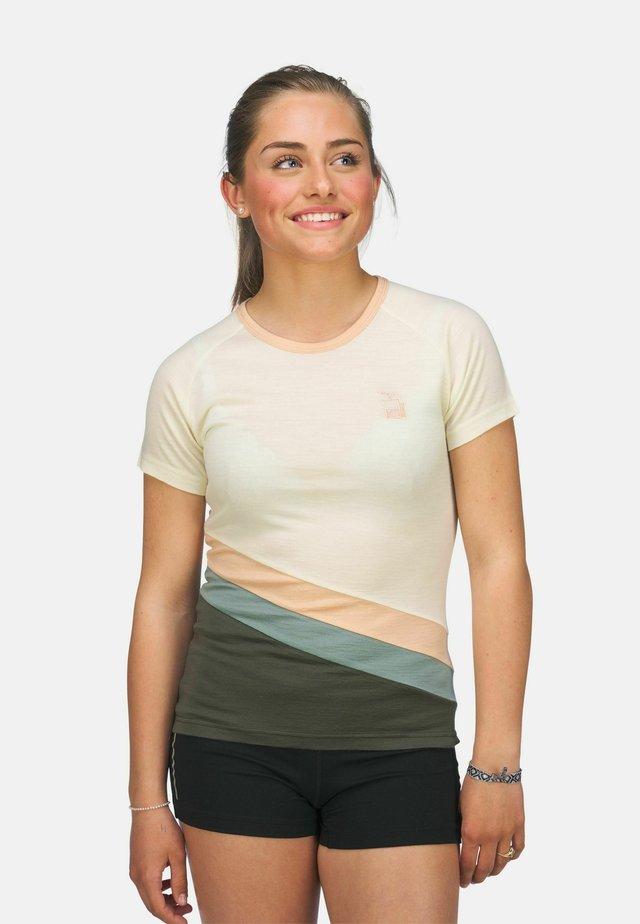 T-shirts med print - hvit/grønn/beige