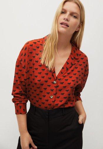 EVERY - Button-down blouse - bräunliches orange