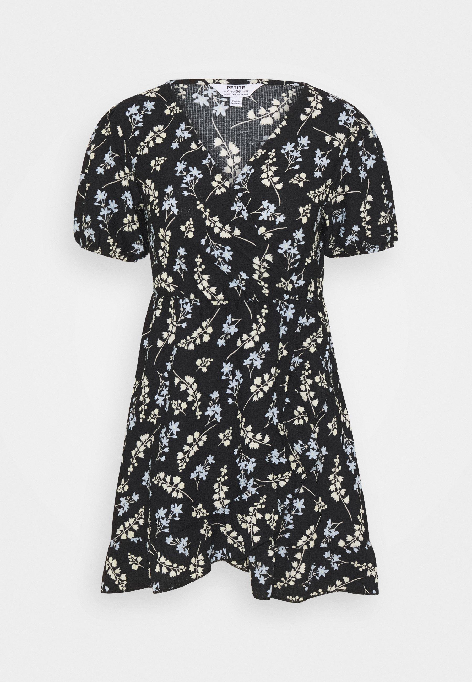 Women DITSY FRILL FRONT FAUCHETTE MINI DRESS - Jersey dress