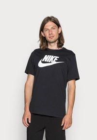 Nike Sportswear - TEE ICON FUTURA - T-shirt print - black/white - 0