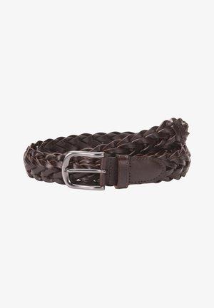 Braided belt - darkbrown