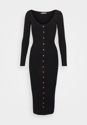 ALLISTER - Pletené šaty - black