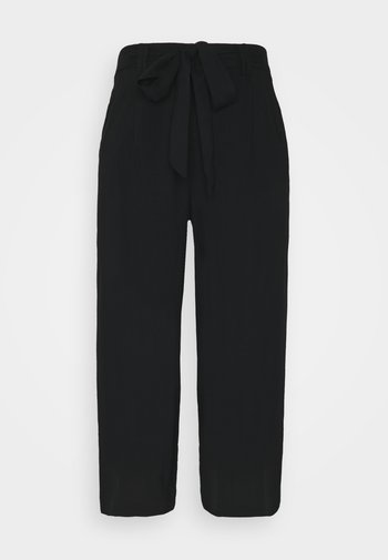 ONLNOVA LIFE CROP PALAZZO PANT - Kalhoty - black