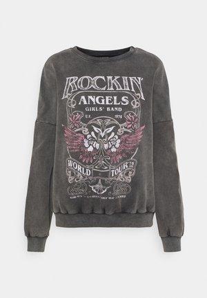 Loose Fit Printed Sweatshirt - Mikina - grey
