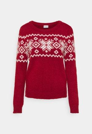 CHRISTMAS VIFEAMI ONECK - Stickad tröja - red dahlia