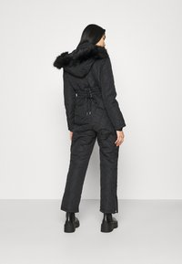 Missguided - SKI QUILTED CORSET SNOW - Overal - black - 2