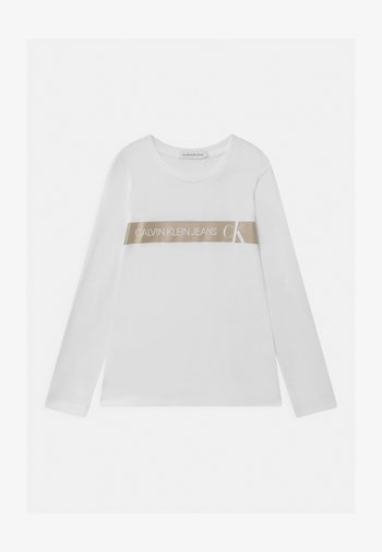 FOIL LOGO SLIM  - Maglietta a manica lunga - white
