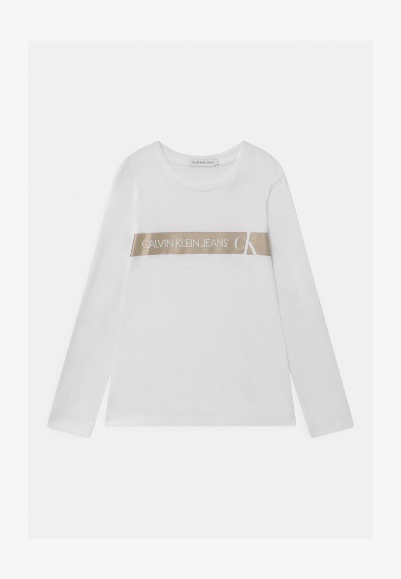 Calvin Klein Jeans - FOIL LOGO SLIM  - Top sdlouhým rukávem - white