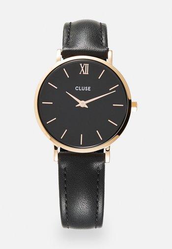 MINUIT - Reloj - black/rose gold-coloured