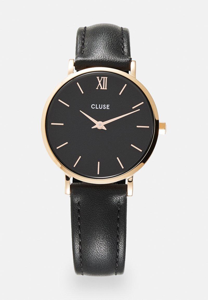 Cluse - MINUIT - Horloge - black/rose gold-coloured
