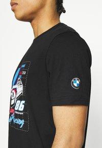 Puma - BMW VINTAGE TEE - Print T-shirt - black - 3