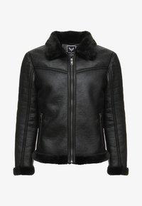 BLACKOUT - Imitatieleren jas - black