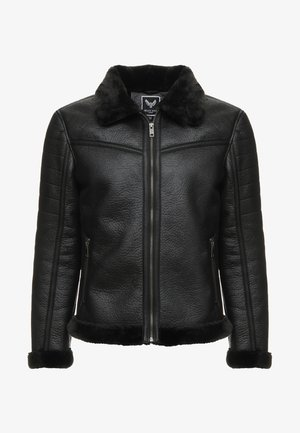 BLACKOUT - Faux leather jacket - black