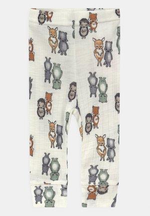 NBMWANG NEEDLE UNISEX - Leggings - Trousers - snow white
