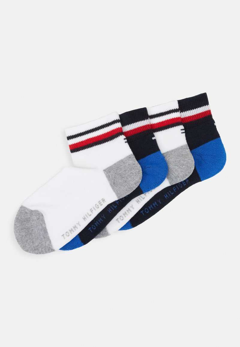 Tommy Hilfiger - KIDS ICONIC SPORTS QUARTER 4 PACK - Ponožky - midnight blu/ white