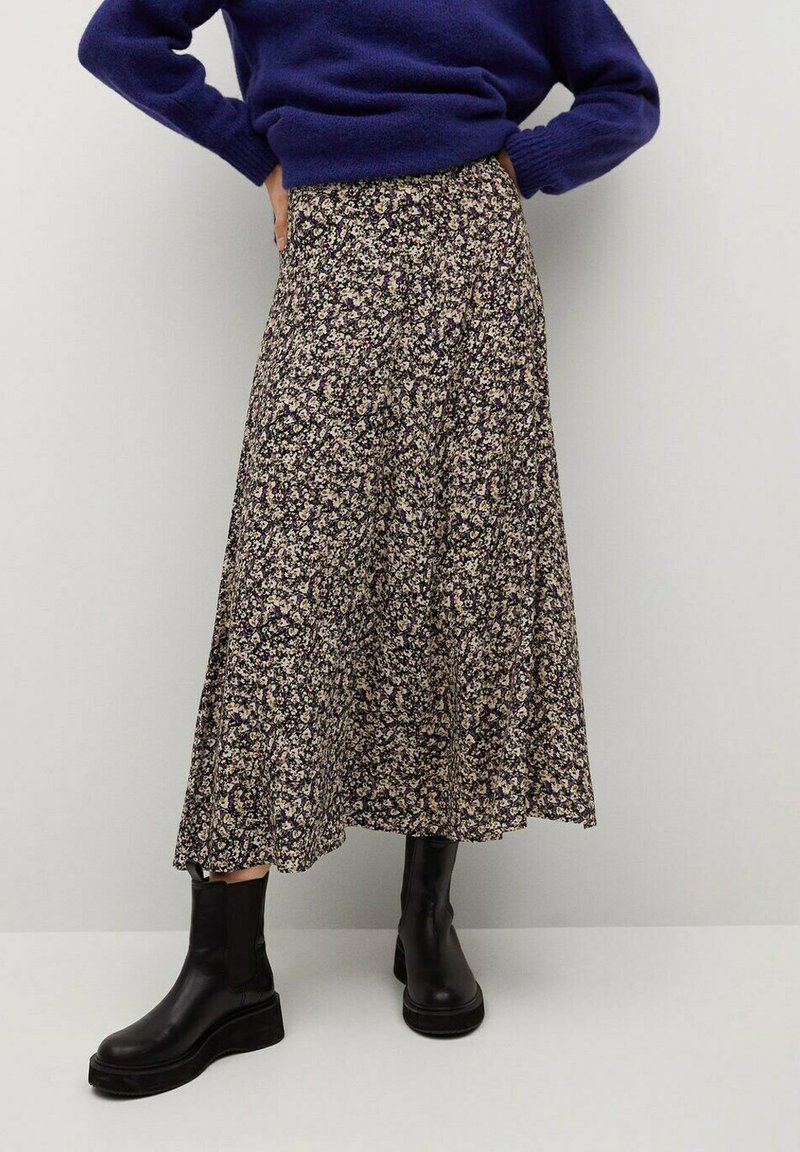 Mango - BOMBAY - A-line skirt - violet clair/pastel