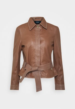 STEFFIE - Leather jacket - camel