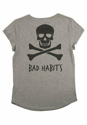 BAD HABITS - T-shirt print - mottled grey
