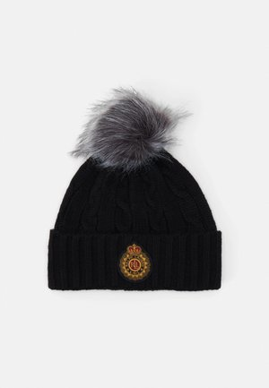 CABLE PATCH HAT - Mössa - black