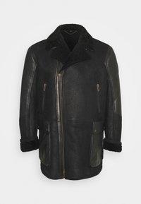 Belstaff - DENNISON JACKET ELEVATED SHEARLING - Leather jacket - black - 0