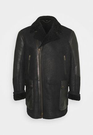 DENNISON JACKET ELEVATED SHEARLING - Leather jacket - black