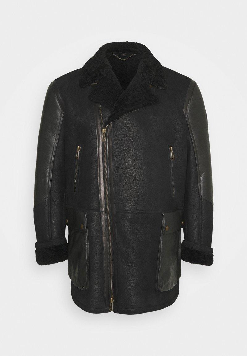 Belstaff - DENNISON JACKET ELEVATED SHEARLING - Leather jacket - black