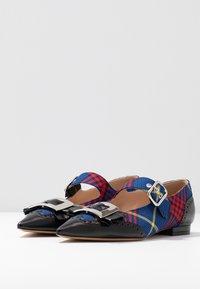 Mulberry - Ankle strap ballet pumps - nero/blue - 2