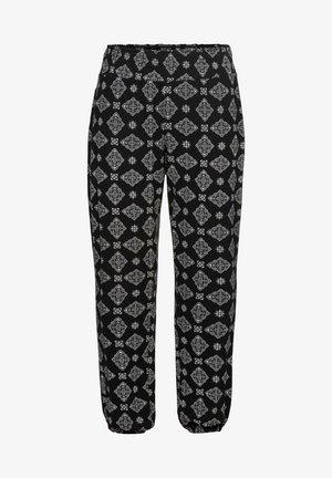 Trousers - schwarz-weiß bedruckt