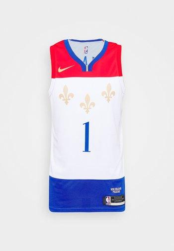NBA NEW ORLEANS PELICANS ZION WILLIAMSON CITY EDITION SWINGMAN - Klubbklær - white