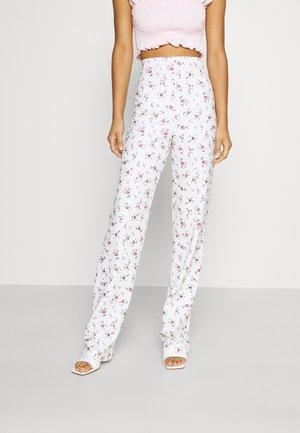PRINT PANT - Pantaloni - white